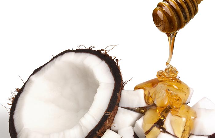 Kokosu ir medaus veido kauke